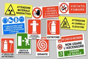 cartelli sicurezza